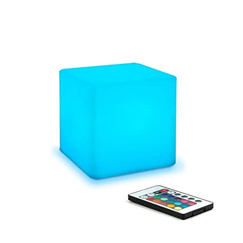 XDXT LED-ljuskub: 4 tum RGB 16 färger coola kosmiska kublampor med fjärrkontroll humörlampa, IP65 vattentät och USB-laddning bredvid skrivbordslampa, perfekt för barn