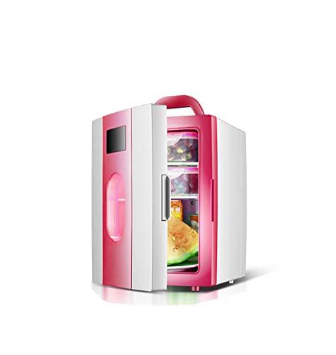 TSS Auto Kühlschrank, einfache 10 Liter 12V Kleine Gefrierschrank 23.5 * 27 * 33.5cm Rosa blau Heizung Kühlschrank Portable Getränke Obst und Gemüse Lebensmittel Kühlbox (Color : Pink)