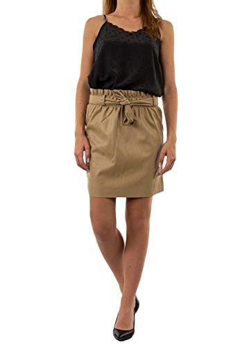 Vero Moda VMAWARDBELT Short FellED Skirt Boos Gonna, Nero, X-Small Donna