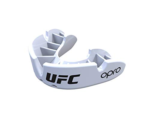 Opro Bronze Adult UFC Mouthguard - 18 Month Extended Dental Warranty - White