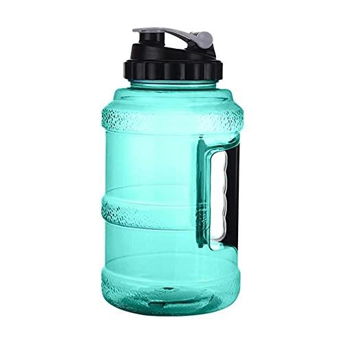 Jarra de Agua - Botella de Agua Grande de 2.5L Botella de Agua Reutilizable Grande Plástico a Prueba de Fugas Inodoro Hervidor de Boca Ancha Gimnasio Fitness al Aire Libre - Verde, r1