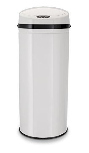 ECHTWERK EW-AE-0260 Edelstahl Abfalleimer 42L mit IR Sensor, INOX White, weiß