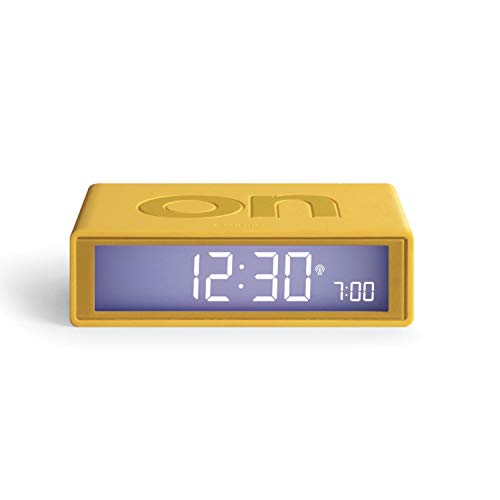 Lexon Flip Plus Reversible LCD Alarm Clock Radio Controlled (Yellow)