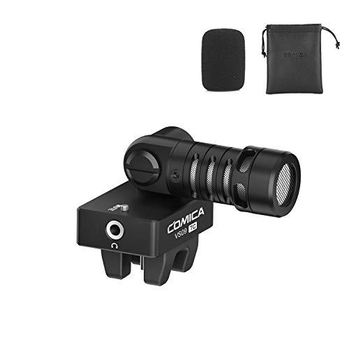 Smartphone Microphone,Comica CVM-VS09TC Cardioid Directional Flexible Condenser Shotgun Video Microphone for Huawei P20 P30 Samsung A10 A20 Moto G7 (USB C Jack)