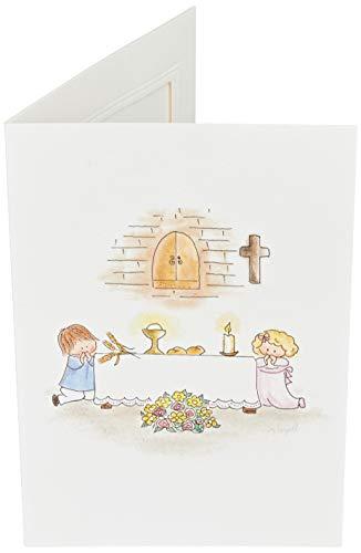 Mopec X1002 Portafoto con Marco Comunión Altar 2 niños, Pack de 25, Cartulina, Multicolor, Talla única