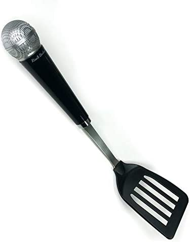 Rise8 Studios Novelty Microphone Kitchen Cooking Utensil Gift for Music Lovers and Singers Spatula product image