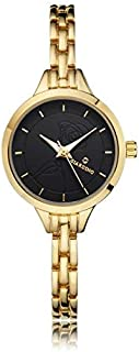 Giardino Women's Watch, Analog with Golden Band and Black Dial G0968GB