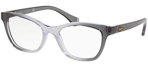 Ralph Lauren RALPH BY 0RA7101 Monturas de Gafas, Top Grey Grad Lilla Transparente, 51 para Mujer