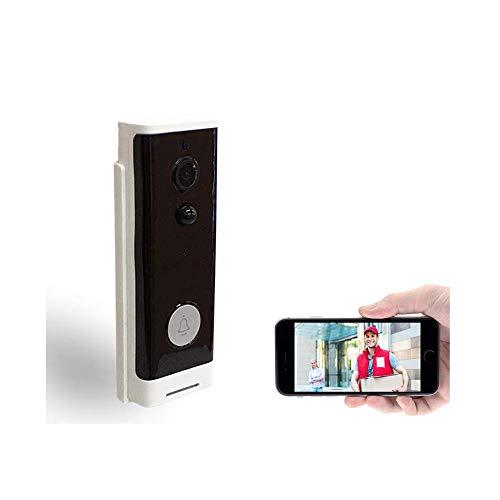 VISGOGO Video Doorbell | Video Türklingel 720p HD-Video, Gegensprechfunktion,Bewegungsmelder und WLAN Weitwinkel kabellose Türklingel Anti-Theft Kamera WLAN IR Nachtsicht (Schwarz, OneSize)