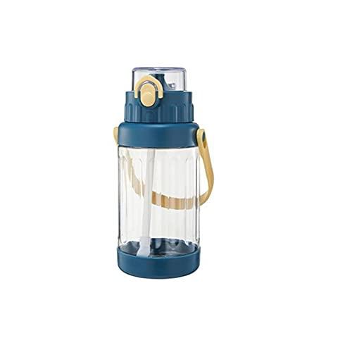 Kalami Botella de agua deportiva de 1,5 l, sin BPA, de plástico, con filtro Tritan, botella de agua con ácido carbónico, apta para niños, bicicletas, gimnasios, yoga, al aire libre, camping