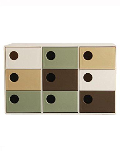KKCF Armoires de Stockage de tiroir de boîte de Stockage de Grille de Bureau Neuf (165 * 78 * 104mm) dépenses familiales (Couleur : B)