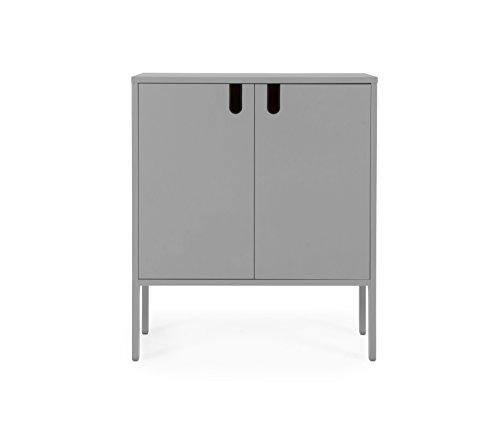 TENZO 8552-014 UNO Designer Schrank 2 Türen, MDF/Spanplatte, grau, 76 x 40 x 89 cm