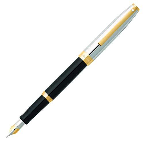 Sheaffer E0947543 - Pluma estilográfica con grosor fino, color negro brillante