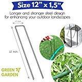 Green Garden Klammern für Garten-Landschaft, 30,5 cm, verzinkter Stahl, für Unkrautschutz, Bodenabdeckung, Tropfbewässerungsschlauch, 30,5 cm
