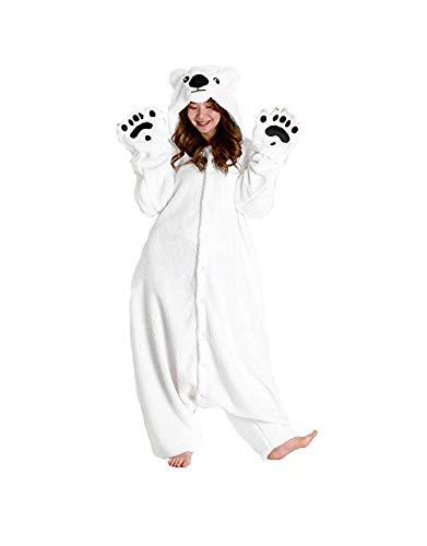 SAZAC Fleece Kigurumi Pyjama Ours Blanc - Taille Unique