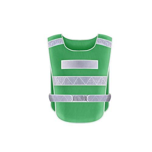 Agal Ropa Reflectante Traje Reflectante Reflectante Chaleco de Seguridad, Ultra-Alta Visibilidad Reflectante con Plata Reflectante Tiras for la Visibilidad Equipo Reflectante (Color : Dark Green)
