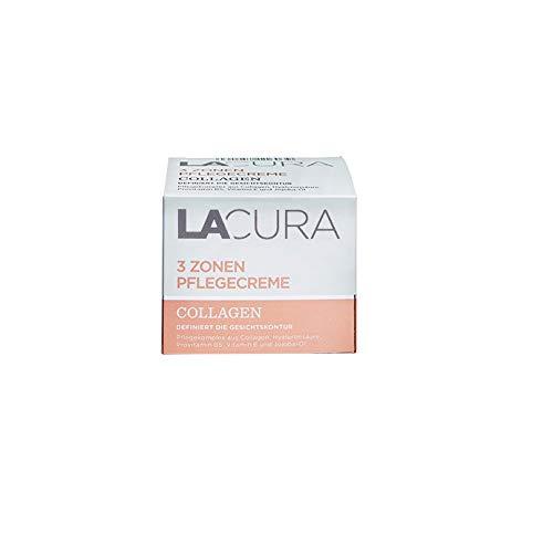 LACURA Collagen 3 Zonen Creme Gesichtscreme mit Hyaluronsäure 50 ml