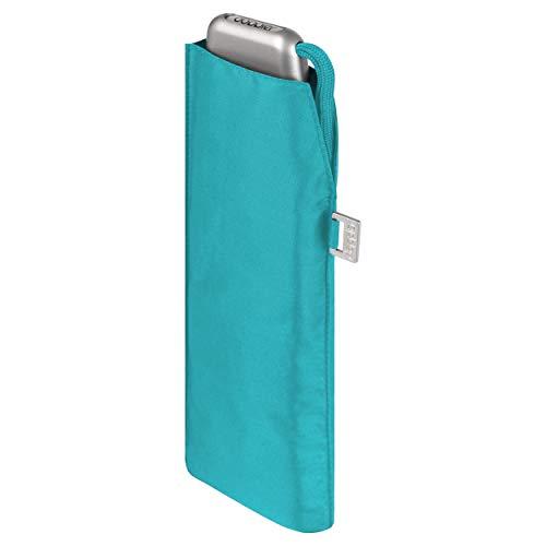 doppler Regenschirm Taschenschirm Mini Slim Carbonsteel sturmsicher bis 100km/h flach & leicht Summer Blue