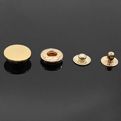 10 stks 10mm-30mm Mix Soepele Snap Bevestiger Druk Knopen Botoes Naaien Leer Craft Kleding Tassen Accessoires, Jeans Metalen Knopen 10mm Goud
