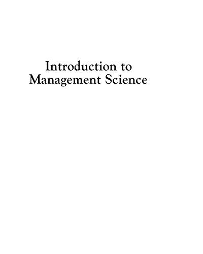 Compare Textbook Prices for Introduction to Management Science 12 Edition ISBN 9780133778847 by Taylor III, Bernard W.