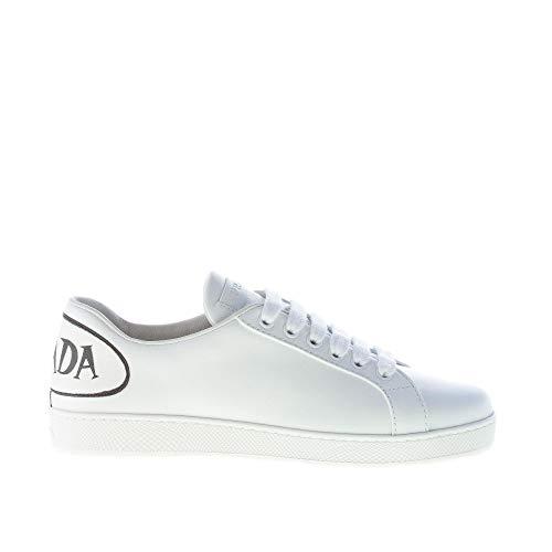 Prada Donna Sneaker in Pelle Bianco con Comix Brand al Tallone Color Bianco Size 36.5