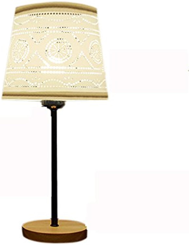 WSXX Tischlampe Nachttischlampe Nachttischlampe Nachttischlampe Schlafzimmer Nordic Einfache Augenschutz Umweltschutz Stoff Massivholz 450  190 (Mm) B07FXH63SD  | Schöne Kunst  88aca8