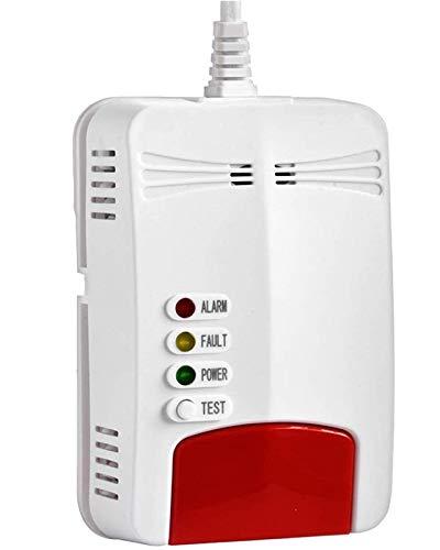 Rauchmelder - Smart Home Co2 Rauchmelder Vernetzt - Gasmelder Sofortige SMS-Benachrichtigung - Homekit Rauchmelder An der Wand Montiert mit EU-Stecker