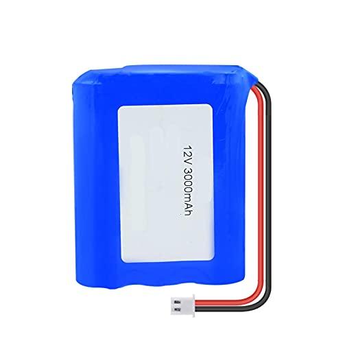 HTRN Paquete De Batería De Litio 12v 3000mah 18650 (3X 18650 Li-Ion Cell), con Conector Xh 2.54mm 2pin para Banco De Energía DIY para Bicicleta