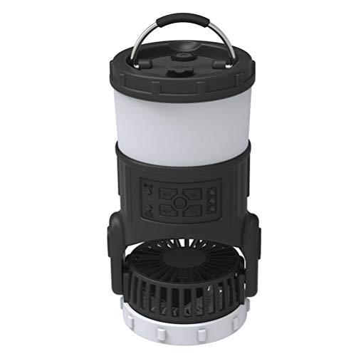 Urisgo – Farol para tienda de campaña con ventilador, multifunción portátil, radio 3 en 1 FM, protección antimosquitos, luz para camping, senderismo, pesca, senderismo, exterior, hogar y oficina