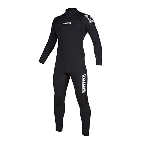 Mystic Watersports - Surf Kitesurf & Windsurfing Mens Star 3/2mm Double Front Zip Wetsuit - Black - Thermal Warm Heat