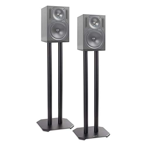 Duronic Speaker Stand (pair) SPS1022-60 | MEDIUM 60cm | Set of 2 Steel Base...