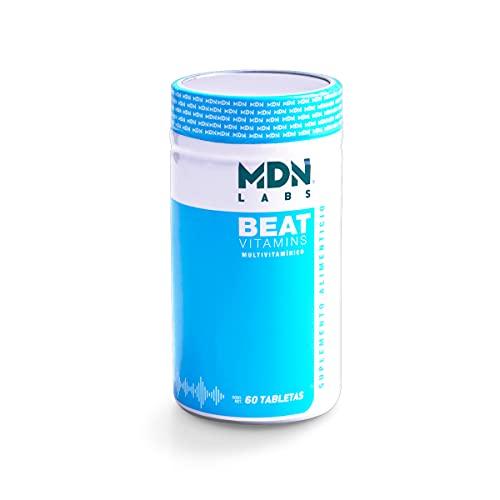 MDN Beat Vitamins, Multivitamínico 60 tabletas con Q10, curcumina y antioxidantes