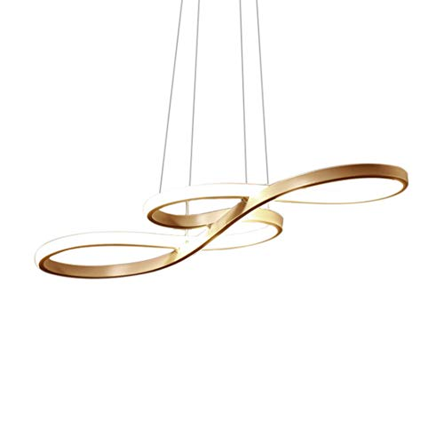 Anillo LED araña creativa lámpara de sala de estar lámpara de techo para restaurante totalmente regulable lámpara de diseño simple sala de estar lámpara de araña de oficina altura:75 * 32 * 30cm58W