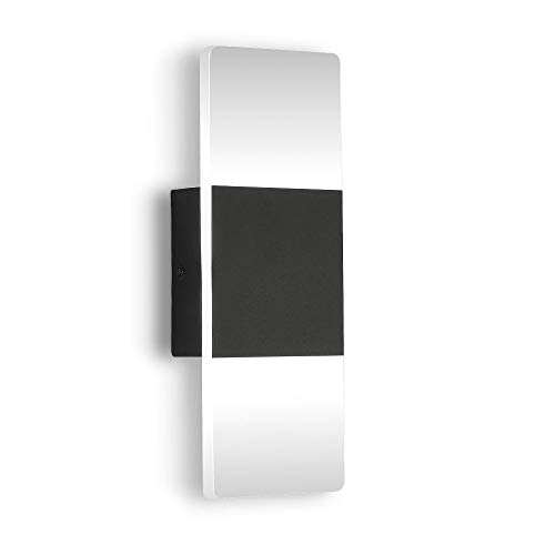 ZitoStory LED Wall Lamps Bedroom LED Wall Sconce fixtures Modern Bathroom Vanity Light Indoor Matte Black 12W Acrylic Wall lamp Lighting Bedside Wall lamp Aisle Lights Cool White Light