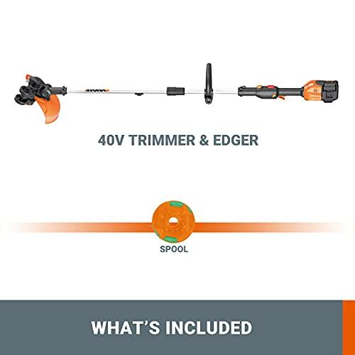 WORX WG184E.9 40V (36V) Dual Battery (2x 20V Battery) Cordless 33cm Grass Trimmer - BODY ONLY
