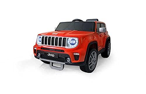 Babycar Jeep  Renegade 12 Volt Macchina Elettrica Jeep per Bambini Porte apribili con Telecomando 2.4 Ghz Soft Start Full Optional (arancione)