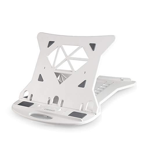 Multifunctionele laptopstandaard, 7 versnellingen in hoogte verstelbare radiator, 360° rotatie aan de onderkant, holle plaat anti-slip siliconen Pad beugel