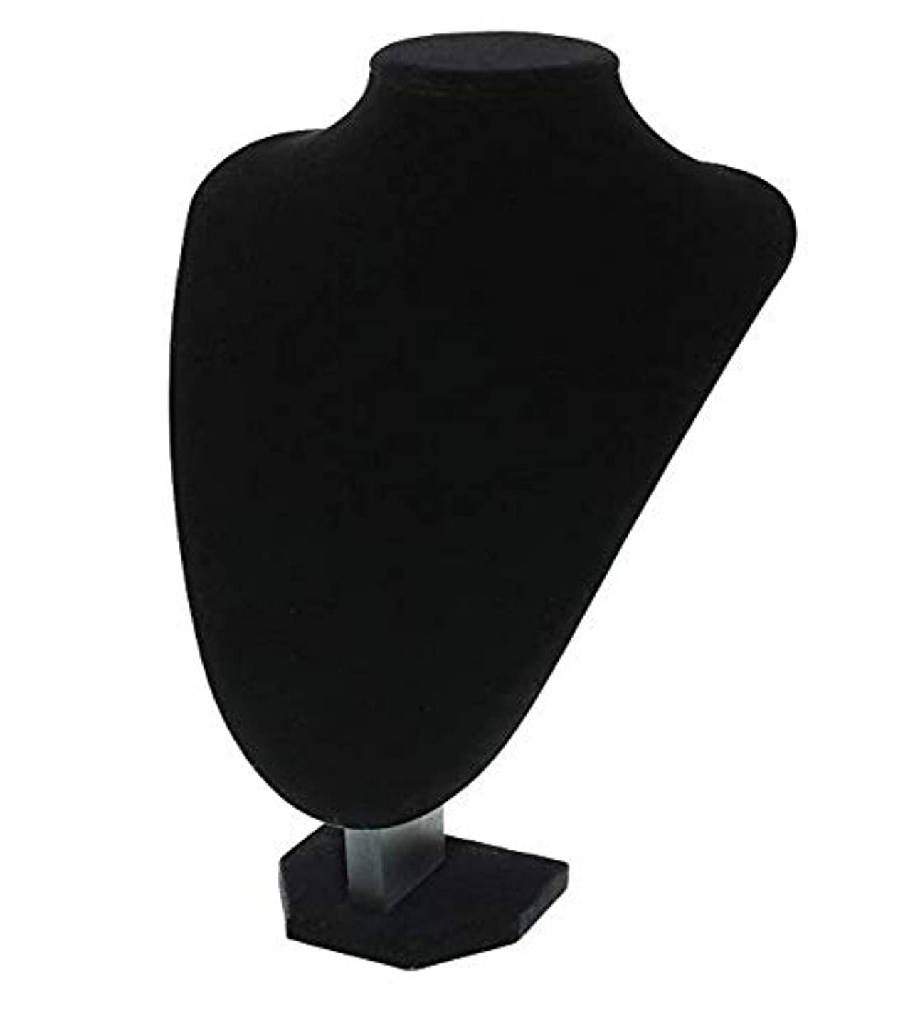 Mydio Jewelry Display Stand - 3D Black Velvet Jewelry Bust Stand Necklace Display Bust Holder 4.5 x 9 x 7 inches