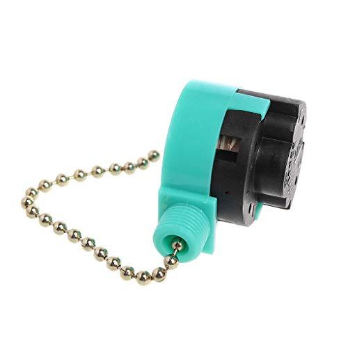 Interruptor de cremallera Folewr Interruptor de pared de ventilador de níquel con control de cadena de tracción de 3 velocidades 3A / 250V 6A / 125V