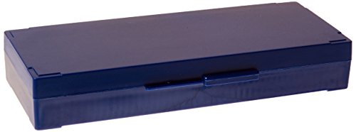 Globe Scientific 513077B ABS Plastic Cork Lined Slide Storage Box for 50 Slides, Blue