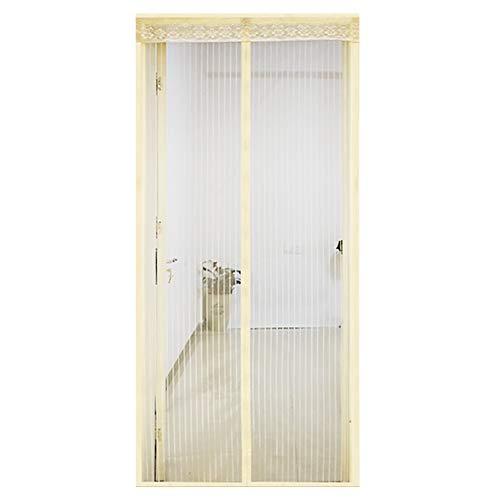 Insectenwerend gordijn, terrasdeur, vliegengaas, magneetgordijn voor balkondeur, automatisch sluiten, slaapkamer woonkamer, kinderlijk eenvoudige montage 70x210cm(28x83inch) beige