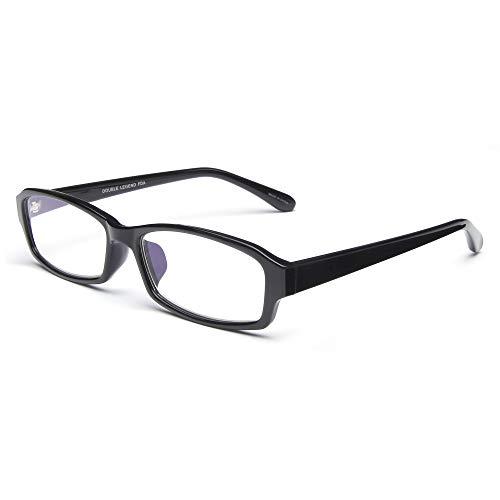 Double Legend 老眼鏡 ブルーライトカット おしゃれ 度数調節(+0.50〜+4.00) 見やすく 楽に掛けられる 軽量 スクエア型 高級ガラス 度数+3.50