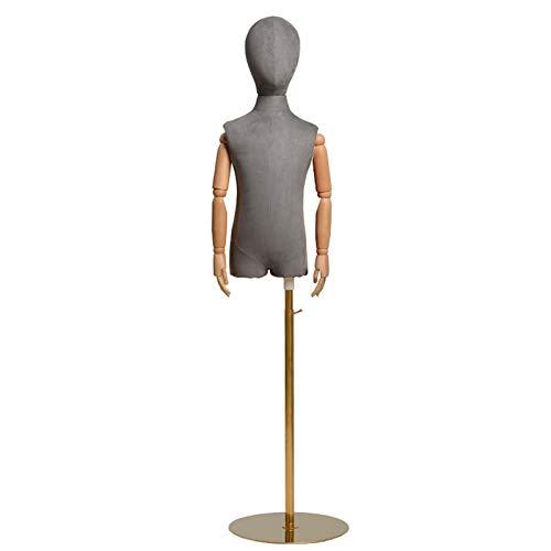 YXX- Maniqui Costura Modista Busto Pinnable Espuma De Poliestireno Maniquí De Costura Infantil para Modistas Y Comercial - Maniquí De Vestir para Niños Pequeños con Brazo Flexible Y Cabeza Extraíble
