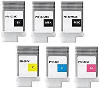 XL-Ink Compatible con Canon PFI-107 (2 x MBK/BK/C/M/Y) 6 Unidades ...