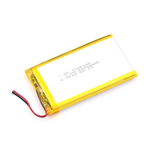 DC 3.7V 10000mAh 1160100 Lipo Battery Rechargeable 2P PH 2.0mm Pitch Lithium Polymer ion Battery Pack with JST Connector