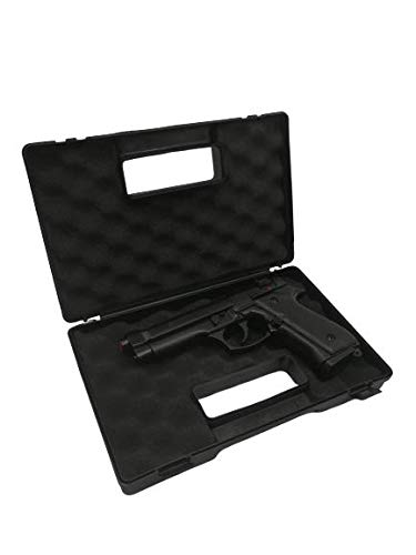 Glac StoreDIAGLAC28CM Custodia Valigetta per Pistola in Plastica Resistente Protettiva con Interno in Schiuma 28 cm Nera