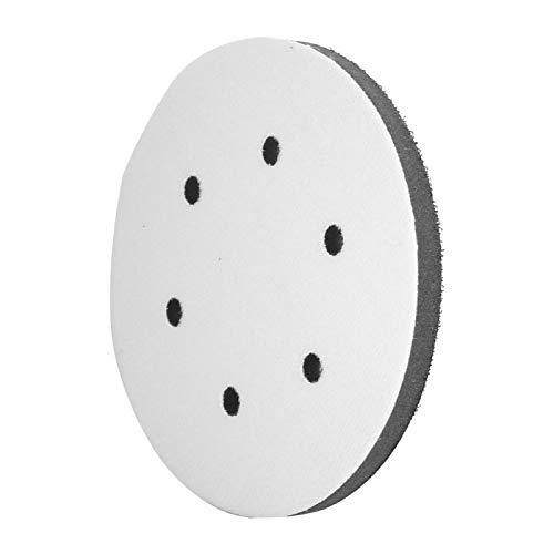 Almohadillas de lijado de esponja suave, función de amortiguación Lijado de tamaño pequeño Almohadilla suave a prueba de sacudidas(6 inch 6 holes)