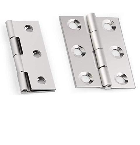 BETOY Edelstahl Scharniere Steckverbinder für Fenster Schrank mit 6 Montage Löcher Steckverbinder für Fenster Kisten Modellbau - 20ST (Silber)