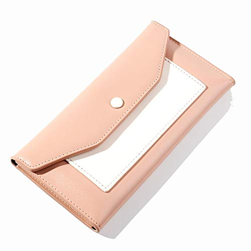 Ai-yixi Diseño Ligero y Elegante Nuevo Contraste de Moda Colorear Bolsa de Embrague Retro Billetera previsor Pop Salvaje (Color : Pink, Size : 18.7 * 2 * 9.5cm)