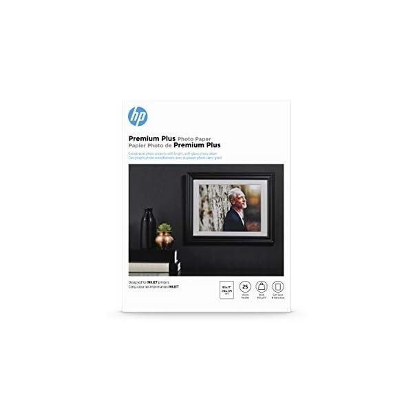 HP Premium Plus Photo Paper   Soft Gloss   8.5×11   25 Sheets
